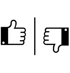 like and dislike vector image vector image