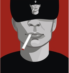Man smoking vector