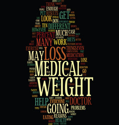 Medical weight loss text background word cloud vector