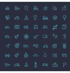 Outline web icons set - navigation location vector