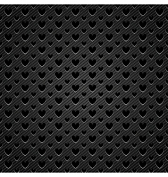 perforated hearts metal vector image
