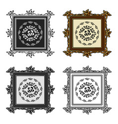 picture icon in cartoon style isolated on white vector image