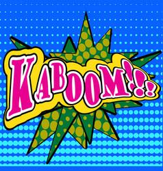 pop art comic bubbles design vector image vector image