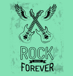 rock music forever icon vector image vector image