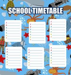 School timetable schedule back to school vector
