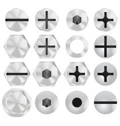 screw head vector image