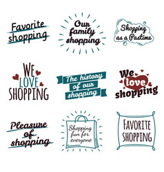 Shopping label logotypes collection on white vector