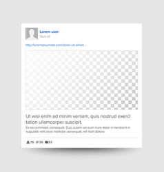 Social photo frame transparent modern vector