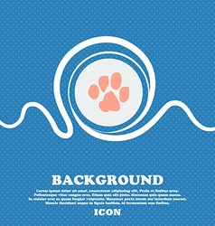 trace dogs sign icon Blue and white abstract vector image