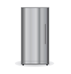 Chrome refrigerator vector