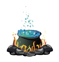 Potion cauldron vector