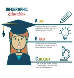 Infographic education student graduation graphic vector