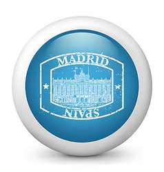 Madrid postage icon vector