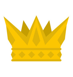 Cog crown icon isolated vector