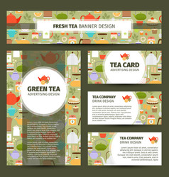 Teapots and cups pattern corporate identity vector