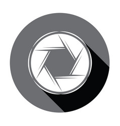 Flat camera icon with shadow vector