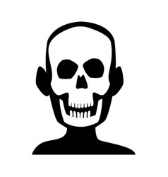 Human skull skeleton x-ray medicine test vector