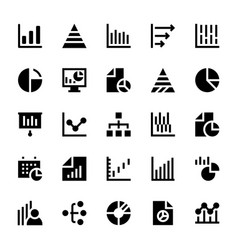 Business charts and diagrams solid icons 1 vector