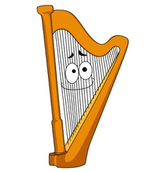 Classical wooden harp vector