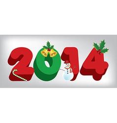 2014 holiday vector image