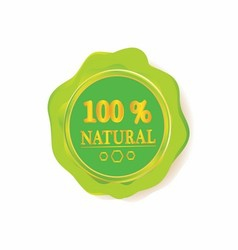100 natural sign label template vector