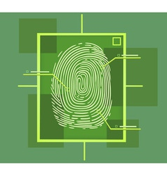 Hi tech fingerprint composition vector