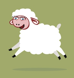 Sheep jump color vector