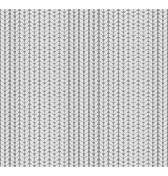 Knitted seamless pattern white vector