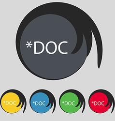 File document icon download doc button doc file vector