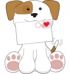 Puppy love letter vector