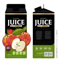 Template packaging design apple juice vector