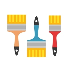 Set of paint brushes isolated on a white vector
