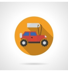 Toy car shop round flat color icon vector