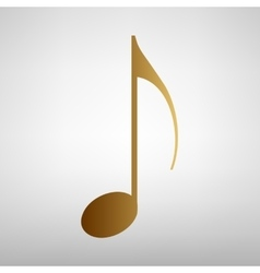 Music note sign vector