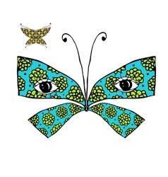 Colorful butterfly with eyes for your design vector