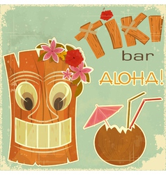 Invitation to tiki bar vector