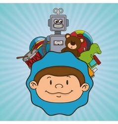 Kids and toys design vector