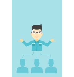 Businessman choosing employee vector