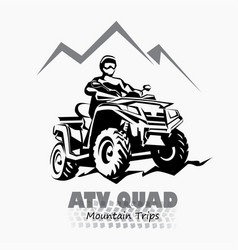Atv quad bike stylized silhouette symbol design vector