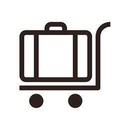 Baggage cart - travel icon vector image vector image