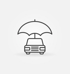 Car with umbrella icon vector