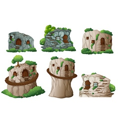 Caves vector image vector image