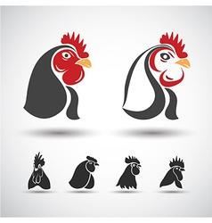 Chicken head2 vector image vector image