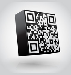 cube with qr code vector image