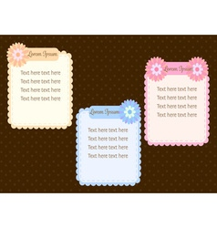 cute pastel colorful flower text dialog box or vector image vector image
