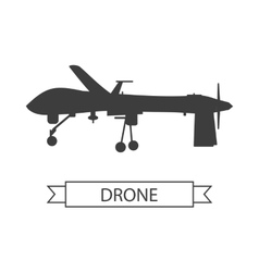 Drone Icon Isolated Unmanned Aerial Vehicle vector image