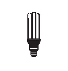 energy saving fluorescent light bulb silhouette vector image