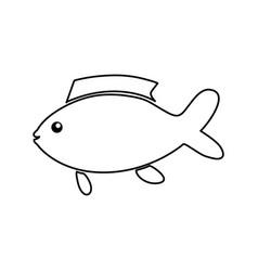 fish sea animal vector image vector image