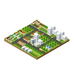 Great 3D metropolis vector image vector image
