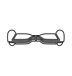 gyroboard black icon vector image